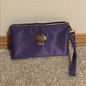Handbags - Purple 3 slot clutch with wristlet